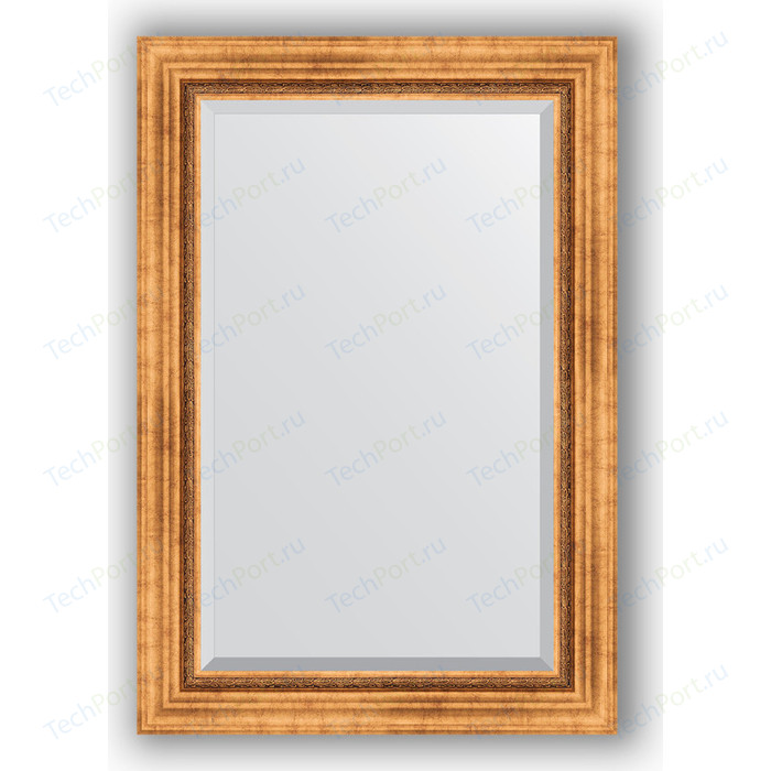 Зеркало с фацетом в багетной раме поворотное Evoform Exclusive 66x96 см, римское золото 88 мм (BY 3438)