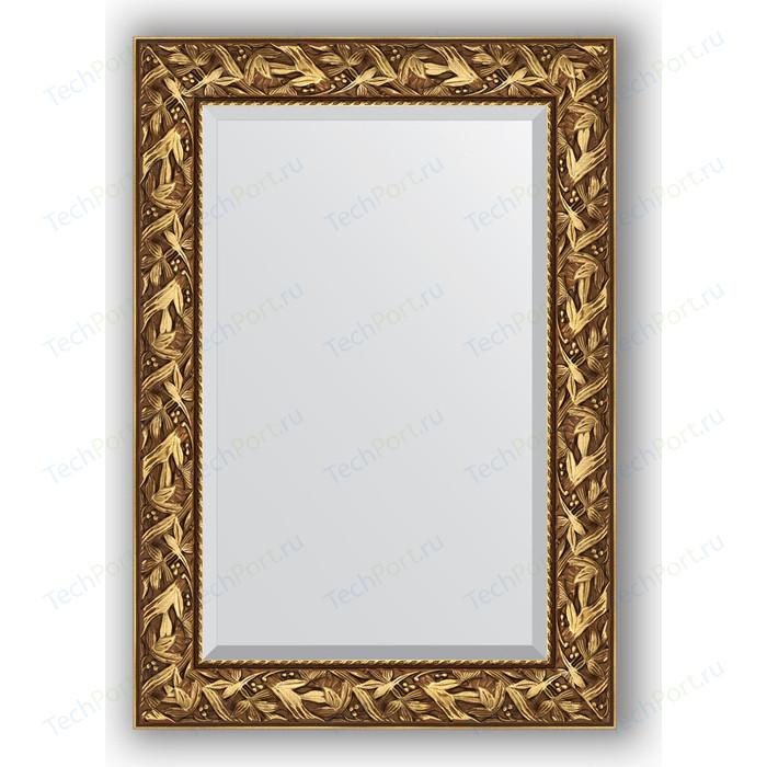 Зеркало с фацетом в багетной раме поворотное Evoform Exclusive 69x99 см, византия золото 99 мм (BY 3441)