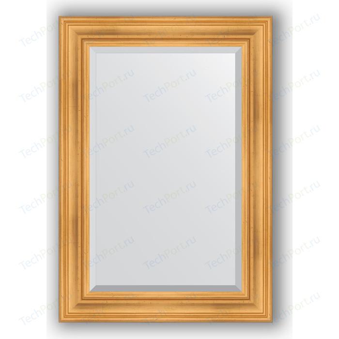 Зеркало с фацетом в багетной раме поворотное Evoform Exclusive 69x99 см, травленое золото 99 мм (BY 3444)