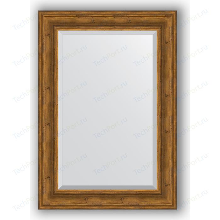 Зеркало с фацетом в багетной раме поворотное Evoform Exclusive 69x99 см, травленая бронза 99 мм (BY 3446)