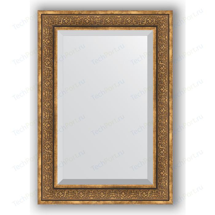 Зеркало с фацетом в багетной раме поворотное Evoform Exclusive 69x99 см, вензель бронзовый 101 мм (BY 3448)