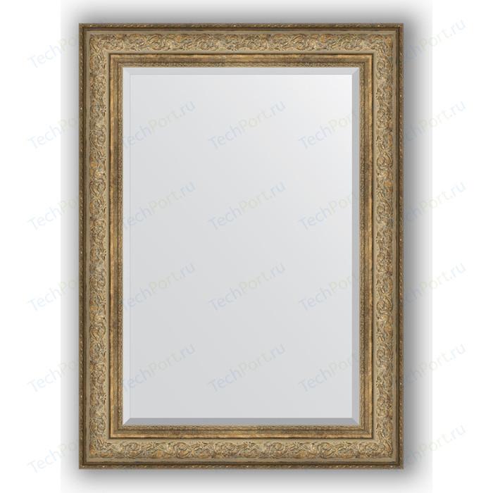 Зеркало с фацетом в багетной раме поворотное Evoform Exclusive 80x110 см, виньетка античная бронза 109 мм (BY 3477) зеркало с фацетом в багетной раме поворотное evoform exclusive 80x110 см виньетка серебро 109 мм by 3478