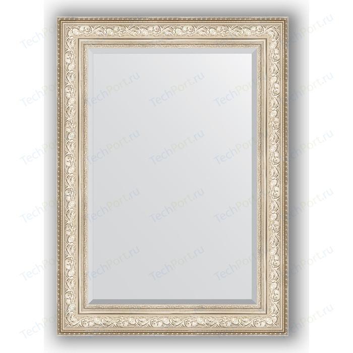 Зеркало с фацетом в багетной раме поворотное Evoform Exclusive 80x110 см, виньетка серебро 109 мм (BY 3478) зеркало с фацетом в багетной раме поворотное evoform exclusive 80x110 см виньетка серебро 109 мм by 3478