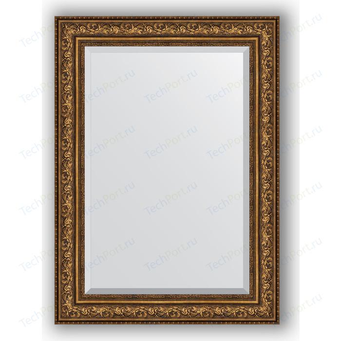Зеркало с фацетом в багетной раме поворотное Evoform Exclusive 80x110 см, виньетка состаренная бронза 109 мм (BY 3479)