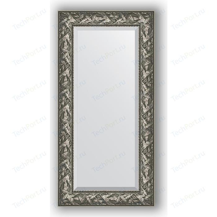 Зеркало с фацетом в багетной раме поворотное Evoform Exclusive 59x119 см, византия серебро 99 мм (BY 3494)