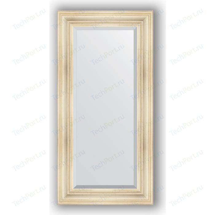 Зеркало с фацетом в багетной раме поворотное Evoform Exclusive 59x119 см, травленое серебро 99 мм (BY 3497)