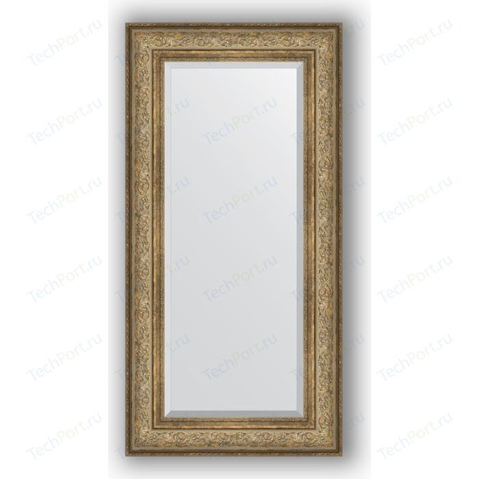 Зеркало с фацетом в багетной раме поворотное Evoform Exclusive 60x120 см, виньетка античная бронза 109 мм (BY 3503)