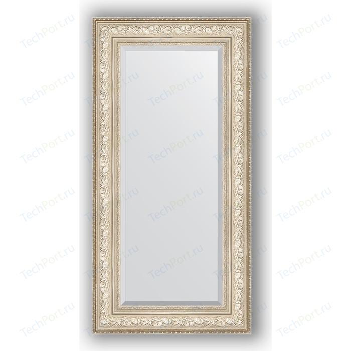 Зеркало с фацетом в багетной раме поворотное Evoform Exclusive 60x120 см, виньетка серебро 109 мм (BY 3504)