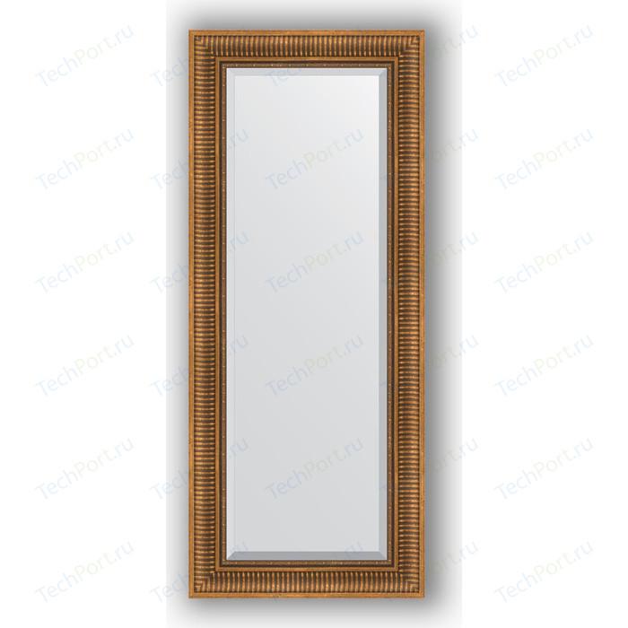 Зеркало с фацетом в багетной раме поворотное Evoform Exclusive 57x137 см, бронзовый акведук 93 мм (BY 3518)