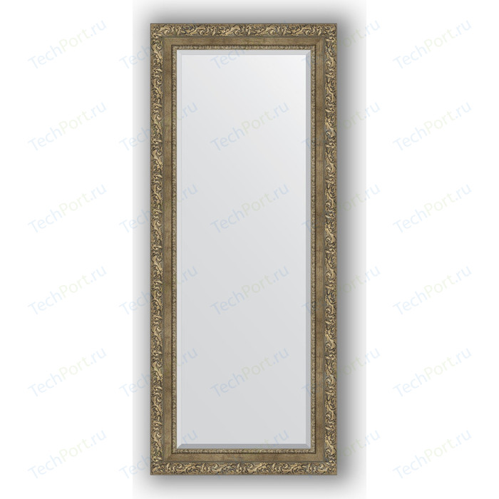 Зеркало с фацетом в багетной раме поворотное Evoform Exclusive 60x145 см, виньетка античная латунь 85 мм (BY 3541)