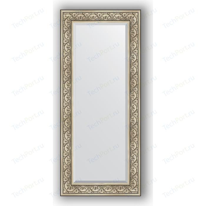 Зеркало с фацетом в багетной раме поворотное Evoform Exclusive 65x150 см, барокко серебро 106 мм (BY 3554)