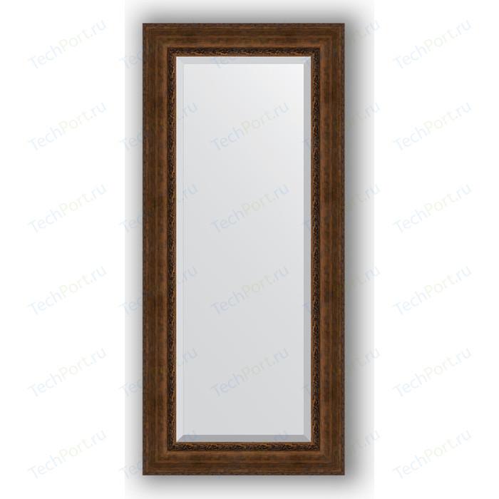 Зеркало с фацетом в багетной раме поворотное Evoform Exclusive 72x162 см, состаренная бронза орнаментом 120 мм (BY 3585)