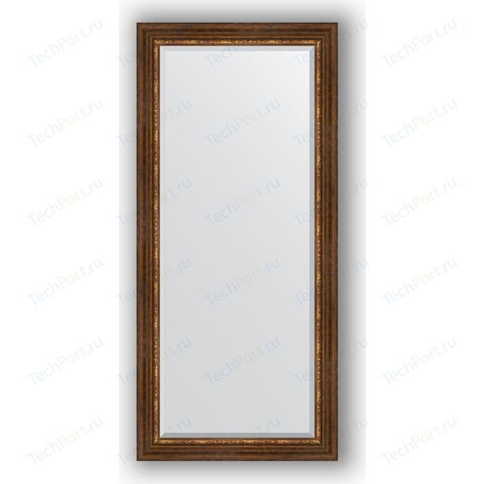 Зеркало с фацетом в багетной раме поворотное Evoform Exclusive 76x166 см, римская бронза 88 мм (BY 3595)