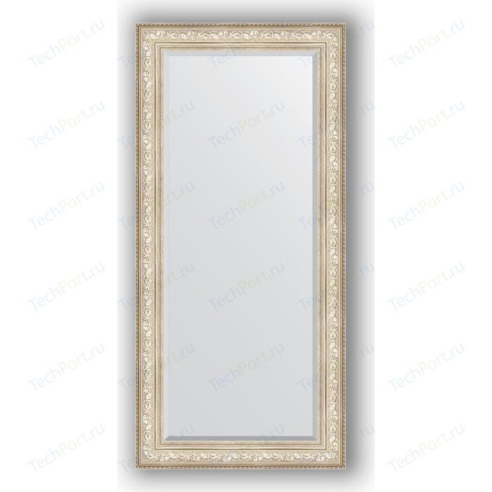 Зеркало с фацетом в багетной раме поворотное Evoform Exclusive 80x170 см, виньетка серебро 109 мм (BY 3608) зеркало с фацетом в багетной раме поворотное evoform exclusive 80x110 см виньетка серебро 109 мм by 3478