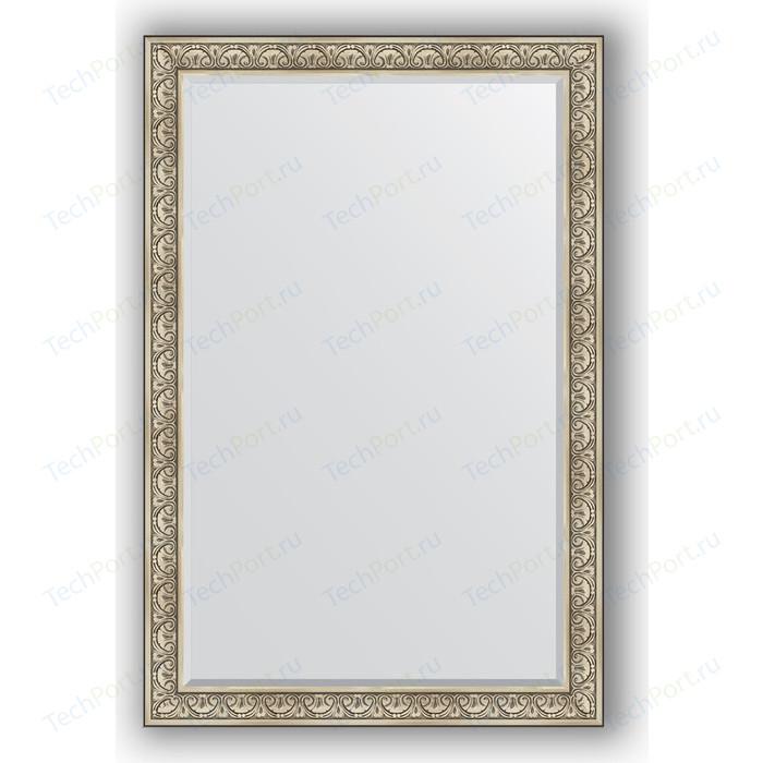 Зеркало с фацетом в багетной раме поворотное Evoform Exclusive 120x180 см, барокко серебро 106 мм (BY 3632)
