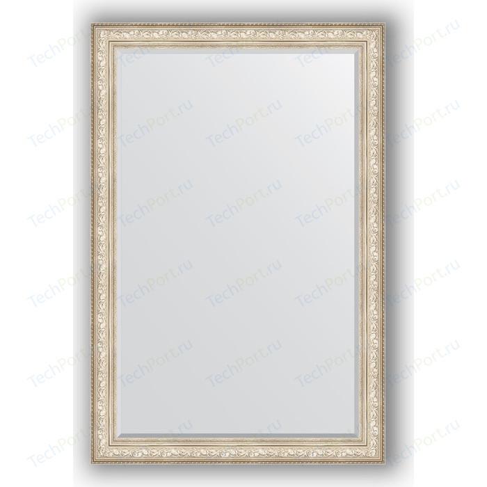 Зеркало с фацетом в багетной раме поворотное Evoform Exclusive 120x180 см, виньетка серебро 109 мм (BY 3634)