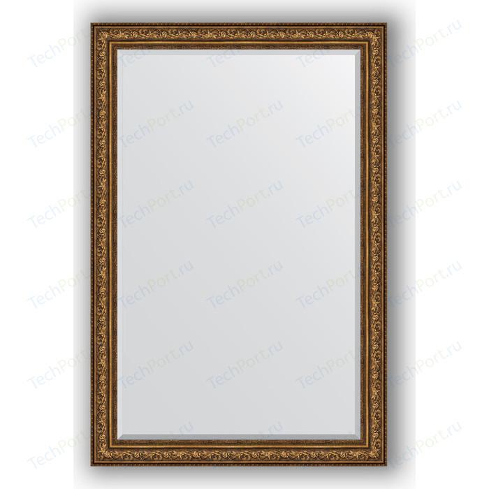 Зеркало с фацетом в багетной раме поворотное Evoform Exclusive 120x180 см, виньетка состаренная бронза 109 мм (BY 3635)