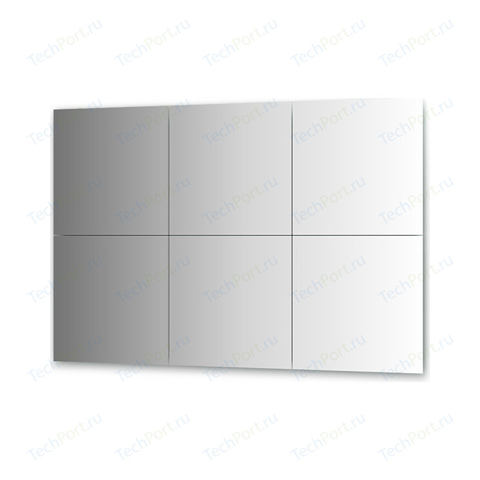 Зеркальная плитка Evoform Reflective с фацетом 10 мм, 50 х см, комплект 6 шт. (BY 1511)