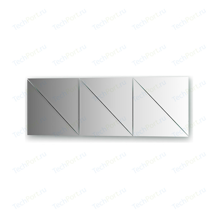 Зеркальная плитка Evoform Reflective с фацетом 10 мм, 30 х см, комплект 6 шт. (BY 1519)