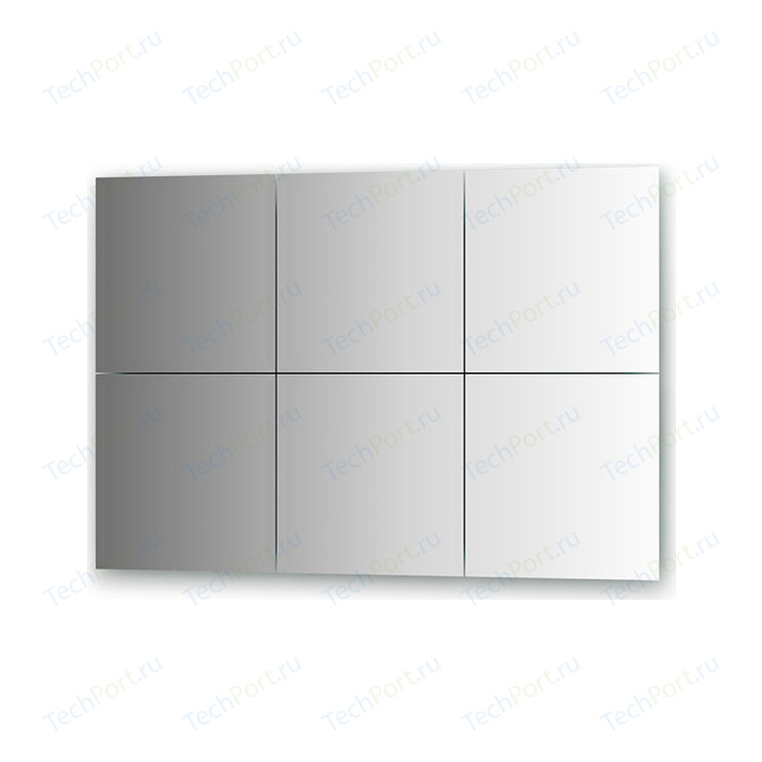 Зеркальная плитка Evoform Reflective с фацетом 15 мм, 30 х см, комплект 6 шт. (BY 1531)