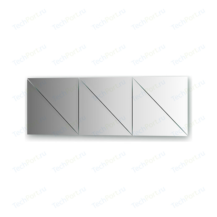 Зеркальная плитка Evoform Reflective с фацетом 15 мм, 30 х см, комплект 6 шт. (BY 1543)