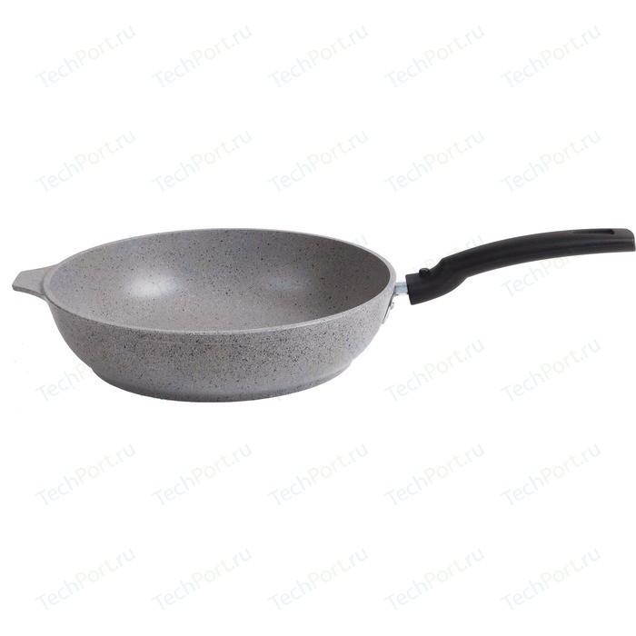 Сковорода со съемной ручкой Kukmara d 24см Мраморная (смс246а) сковорода d 26 см со съемной ручкой kukmara кофейный мрамор смк263а