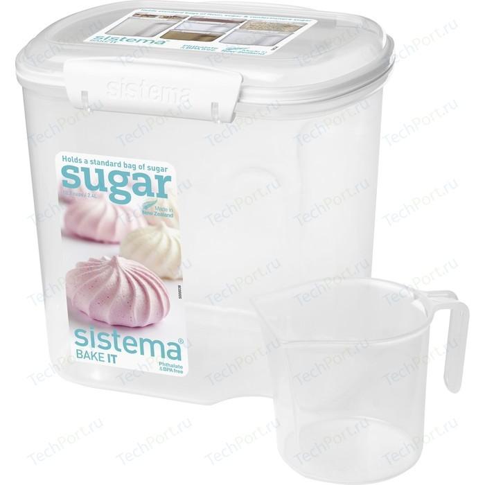 Контейнер для хранения с чашкой Sistema Bake it 2.4 л (1240)
