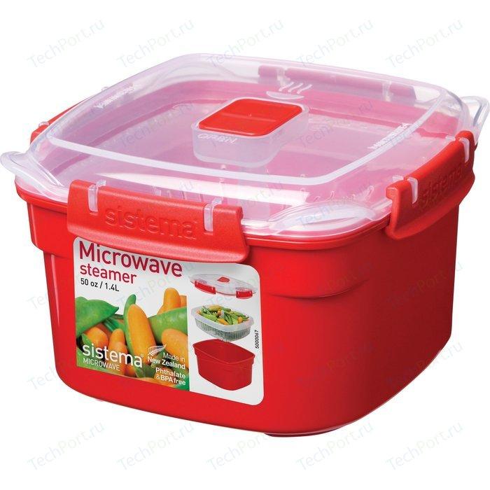 Контейнер для хранения квадратный Sistema Microwave 1.4 л (1101)