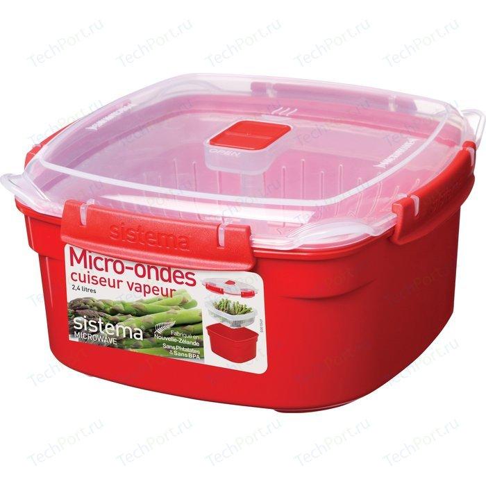 Контейнер для хранения квадратный Sistema Microwave 2.4 л (1102)