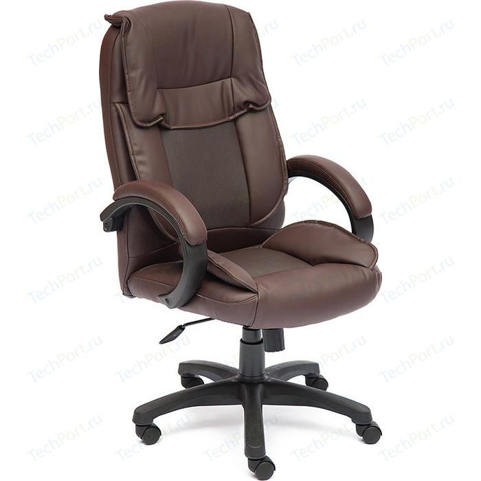 Кресло TetChair OREON кож/зам коричневый/коричневый перфорированный 36-36/36-36/06
