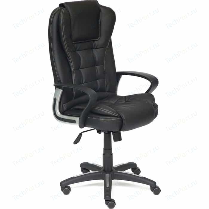 Кресло TetChair BARON кож/зам черный/черный перфорированный 36-6/36-6/06