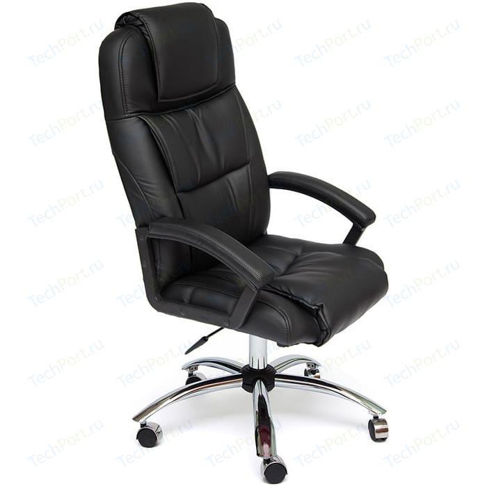 Кресло TetChair BERGAMO (хром) кож/зам черный 36-6