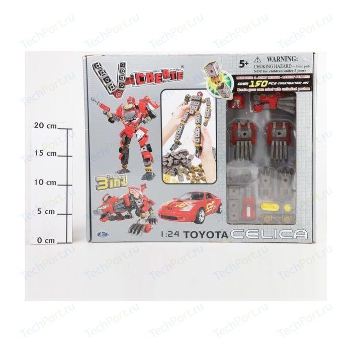 Робот - трансформер Happy Well 3в1 BOX 1:24 Toyota Celica 150 дет арт 54010