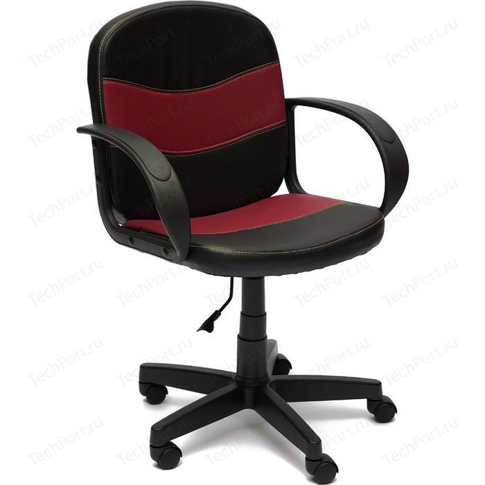 Кресло TetChair BAGGI кож/зам, черный/бордо, 36-6/36-7