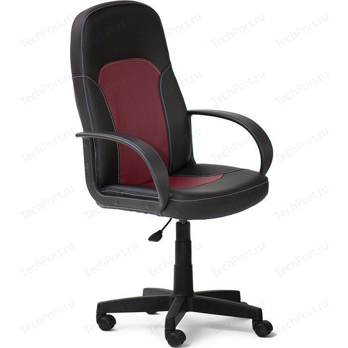 Кресло TetChair PARMA кож/зам, черный/бордо, 36-6/36-7 кресло tetchair trendy кожзам ткань бордо бордо 36 7 13