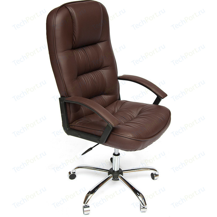 Кресло TetChair СН9944 хром, кож/зам, коричневый, 36-36