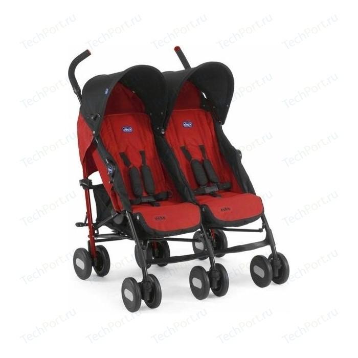 коляски для двойни и погодок Коляска для двойни Chicco Echo Twin Stroller Garnet