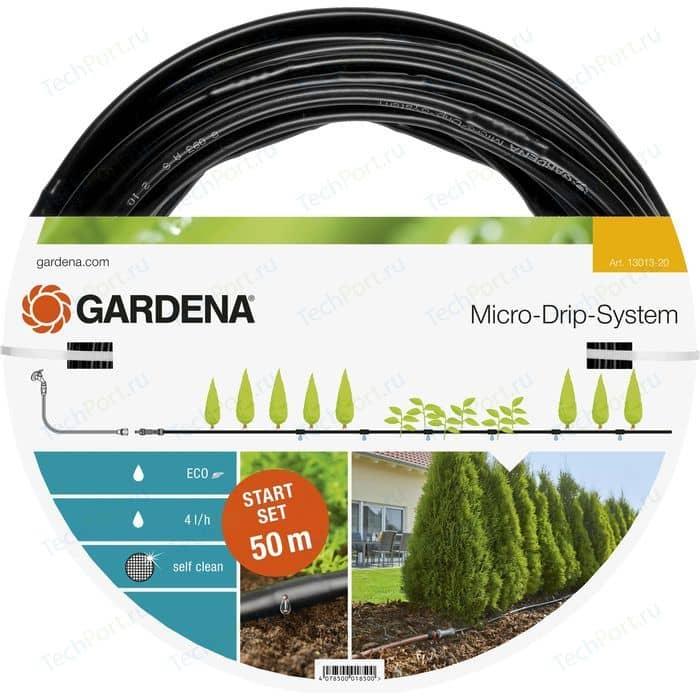 Шланг сочащийся для наземной прокладки Gardena 1/2 (13мм) 50м с фиттингами (13013-20.000.00)