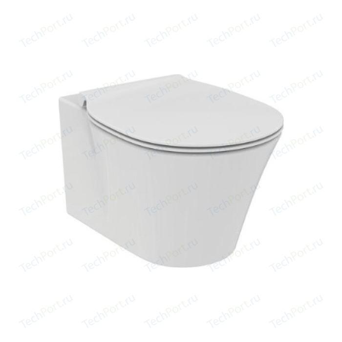 Унитаз подвесной Ideal Standard Connect Air AquaBlade с сиденьем микролифт (E005401, E036601) унитаз подвесной с сиденьем микролифт ideal standard tonic ii aquablade k316701