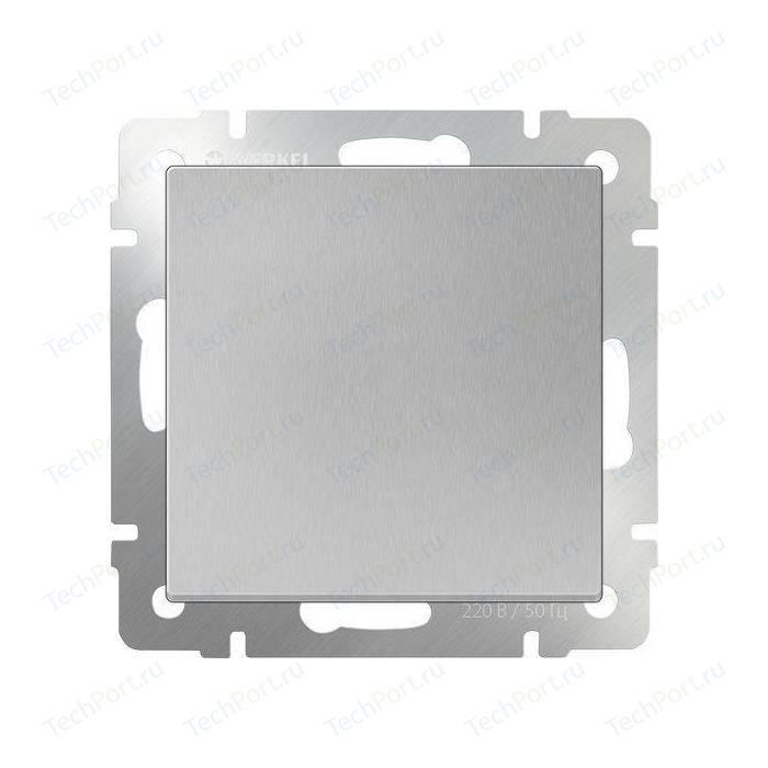 Перекрестный переключатель одноклавишный Werkel серебряный WL06-SW-1G-C