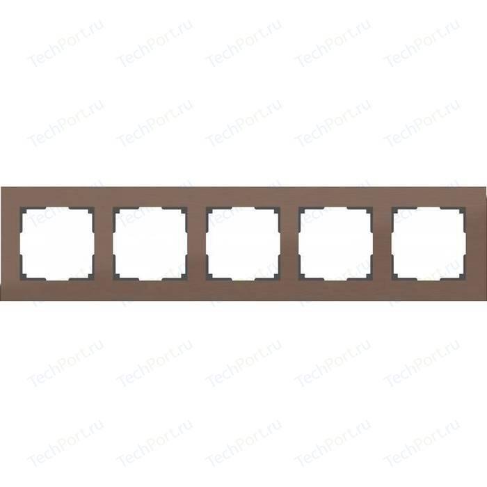 Рамка Werkel Aluminium алюминий коричневый WL11-Frame-05