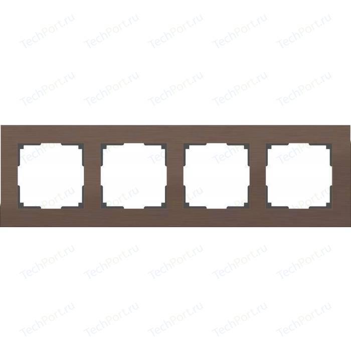 Рамка Werkel Aluminium алюминий коричневый WL11-Frame-04