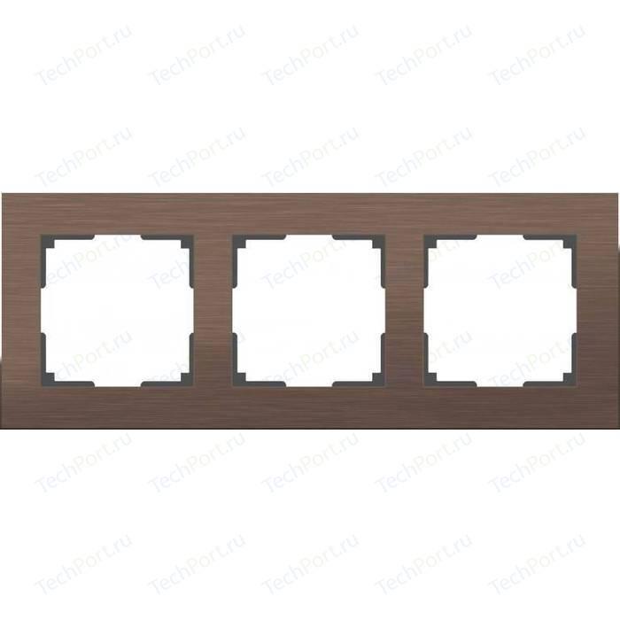 Рамка Werkel Aluminium алюминий коричневый WL11-Frame-03