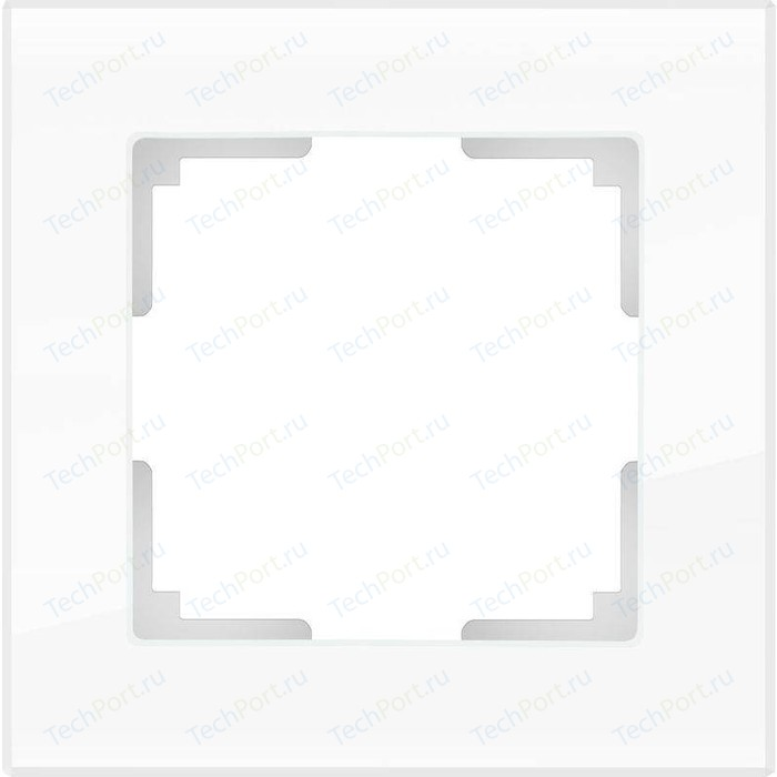 Рамка Werkel Favorit белый стекло WL01-Frame-01-DBL