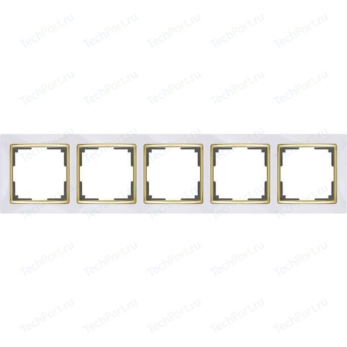 Рамка Werkel Snabb белый/золото WL03-Frame-05-white/GD