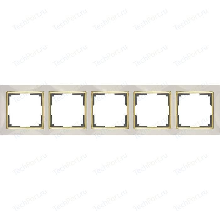 Рамка Werkel Snabb слоновая кость/золото WL03-Frame-05-ivory/GD