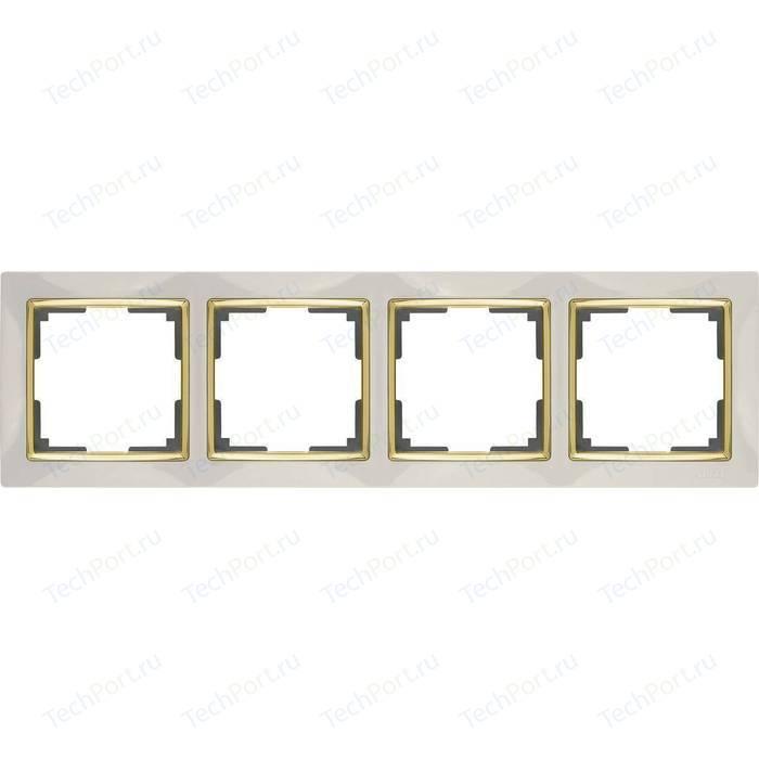 Рамка Werkel Snabb слоновая кость/золото WL03-Frame-04-ivory/GD
