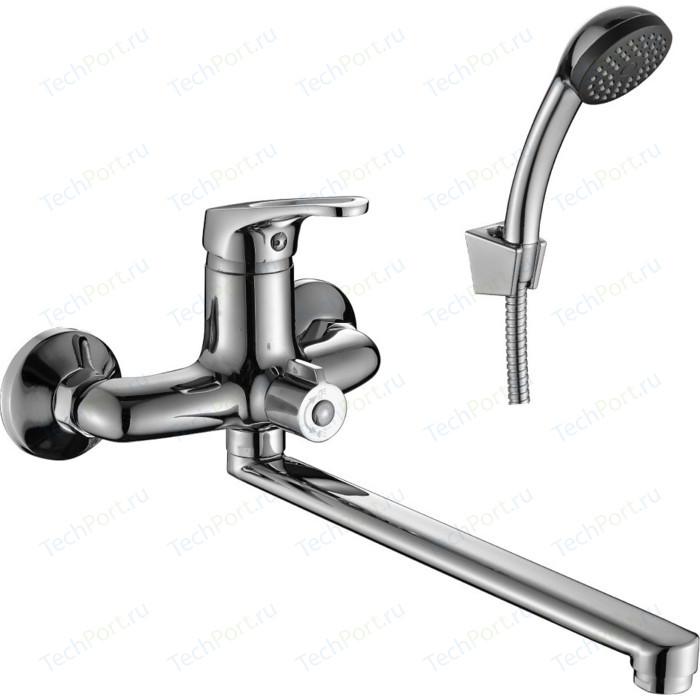 Смеситель универсальный Decoroom с поворотным изливом 300мм (DR37043) смеситель palermo для ванны излив 300мм