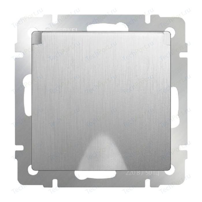 Розетка влагозащищенная Werkel серебряная рифленая 4690389085093