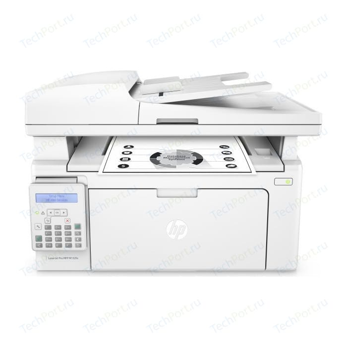 Фото - МФУ HP LaserJet Pro MFP M132fn (G3Q63A) мфу hp color laserjet enterprise 800 mfp m880z a2w75a цветной a3 46ppm факс дуплекс hdd 320гб ethernet usb